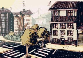 scenery for animation by cougermiau