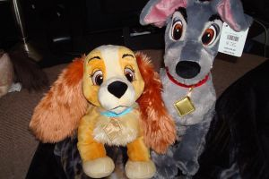 Disney store Lady and Tramp by Vesperwolfy87