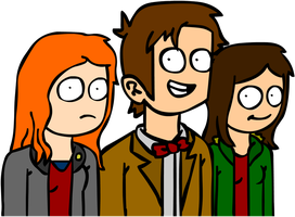 The Doctor, Amy and Clara by The2ndD