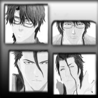 The Many Faces of Aizen by Loona-Cry