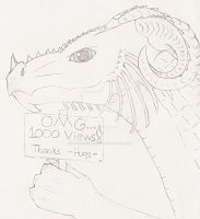 Line art TY dragon by Critterinthedryer