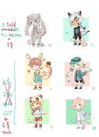 Adoptable SET PRICE [SALE 50% OFF ] CLOSED by yuuta-apple