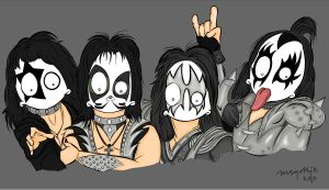 MsGothje meets KISS by MsGothje