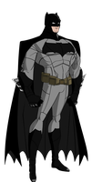 Updated Dawn of Justice Batman JLU Style by Alexbadass
