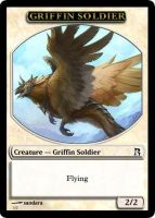 Griffin Soldier Token by RowanKeltizar