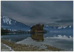 cabin on the lake by Zyklotrop