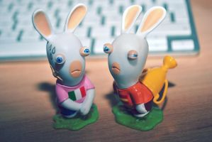 Rabbids  - Spain vs Italy (UEFA EURO 2012) by DokuroYuki