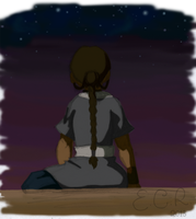 A:TLA Sketch: Desert Night by IslandWriter