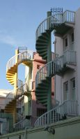 spiral staircase 4 by Rivendell-PhotoStock