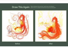 Fire Spirit- Draw this again contest. by Berichan