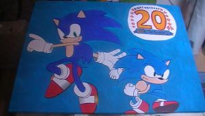 Sonic 20th anniversary painting by Chaoslink1