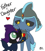 Father and Daughter by LittleSharkNeokiki