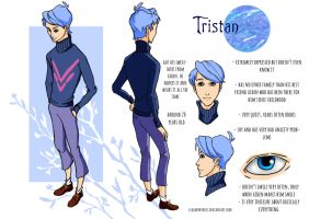 Tristan reference sheet by ClaimTheSkies