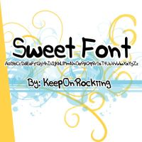 SweetFont by KeepOnRockiing