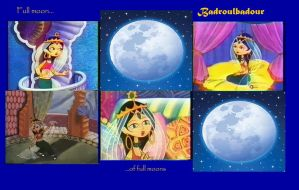 Full Moon of full moons: A Badroulbadour collage by J-Cat