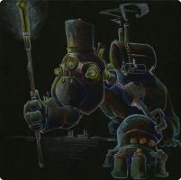Simian Steambot by dan-gr-fix
