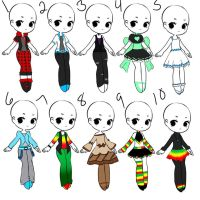 Outfit Adopts 15 *closed* by Canaddicted