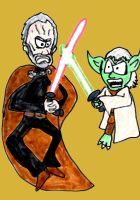 Count Dooku vs Yoda by SonicClone