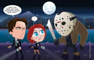 Mulder and Scully vs Jason by rickymanson