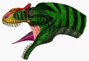 Allosaurus colored by dracontes