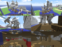 Minecraft Ship by KayKove