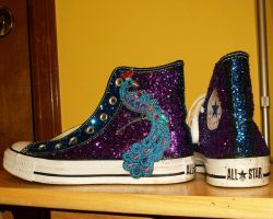 glitter chucks by donnarachel13