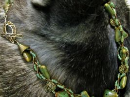 Complete: Green and Brass Braided Necklace by SadiesAccessories