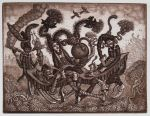 Dinner Party     etching + dry point by MillerTanya