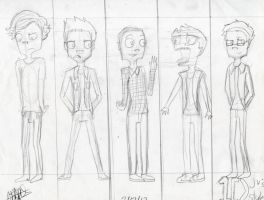 1D in jhonen's style by Sonnikufan4ever