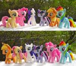 My Little Pony Main Cast Plushies plus pattern by dollphinwing