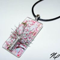 Cherry Blossom Tree of Life by Create-A-Pendant