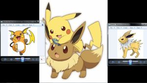Raichu and Jolteon by pikatheking025