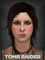 Lara Croft - Visual Works Face by ExpeditionEndurance