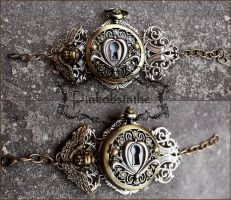Key hole steampunk watch cuff by Pinkabsinthe