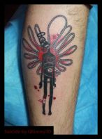 Suicide tattoo by grimmy3d