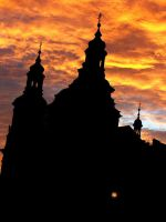 Sunset in Prague by micipr