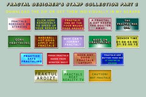 Fractal Designer Stamps 2 by bandit4edu