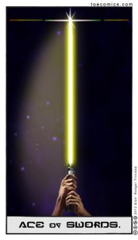 Star Wars Tarot: Ace of Swords by theory-of-everything