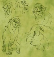 Scar's expressions by Mirri