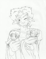AU Gift: Axis and the royal cubs by Yoruhoshi