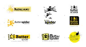 Butterspider Logo ideas by hippiedesigner