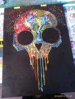 Watercolor Skull by Stasiek77