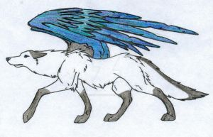 Seraph winged mystely coloring by ChoasSeraph123