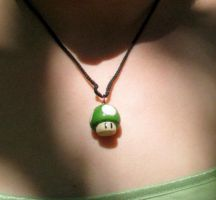 1-UP pendant by ButItsSHINY