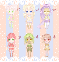 Adoptable batch 4$ | 400points [CLOSED] by Kawaiiipoop