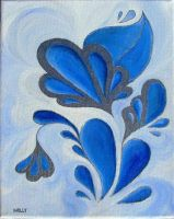 Blue Paisleys by NellyTheBean