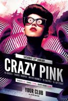 Crazy Pink Party Flyer by styleWish