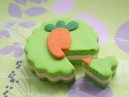 Polymer Clay Easter Carrot  Cake by ImSugarRibbon