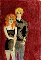 Jace and Clary by GoldQueen95