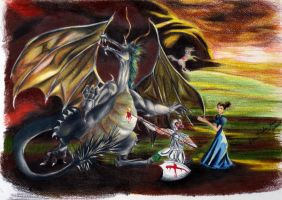 Saint Jorge and the Dragon by Livia-Stocco